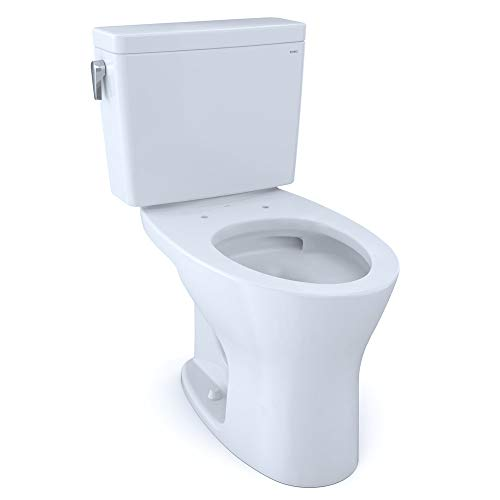 TOTO CST746CEMG#01 Drake Two-Piece Elongated Dual Flush 1.28...