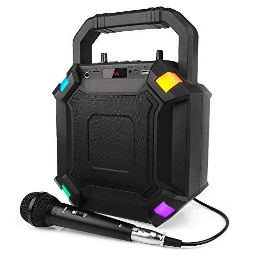 RAGU Portable PA System, Karaoke Machine, Rechargeable 15W...