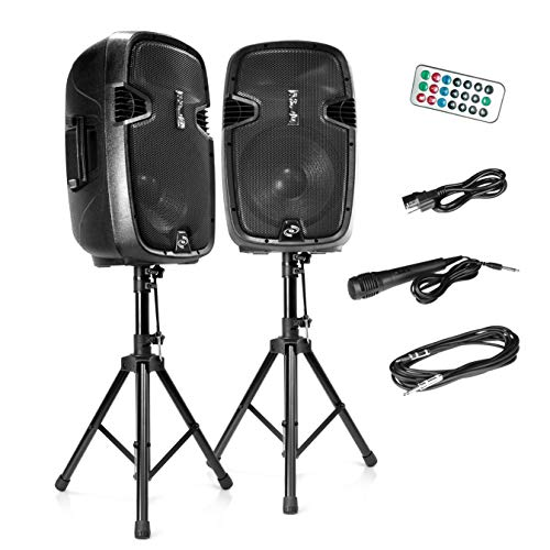 Wireless Portable PA Speaker System - 1800W High Powered...