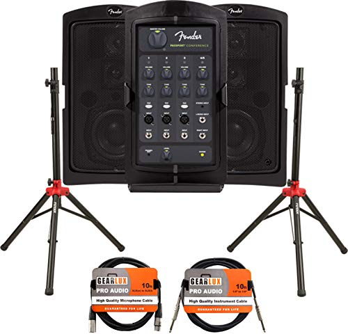 Fender Passport Conference Portable PA System Bundle with...