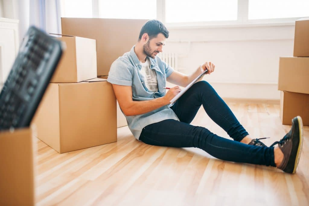 Moving to new house concept