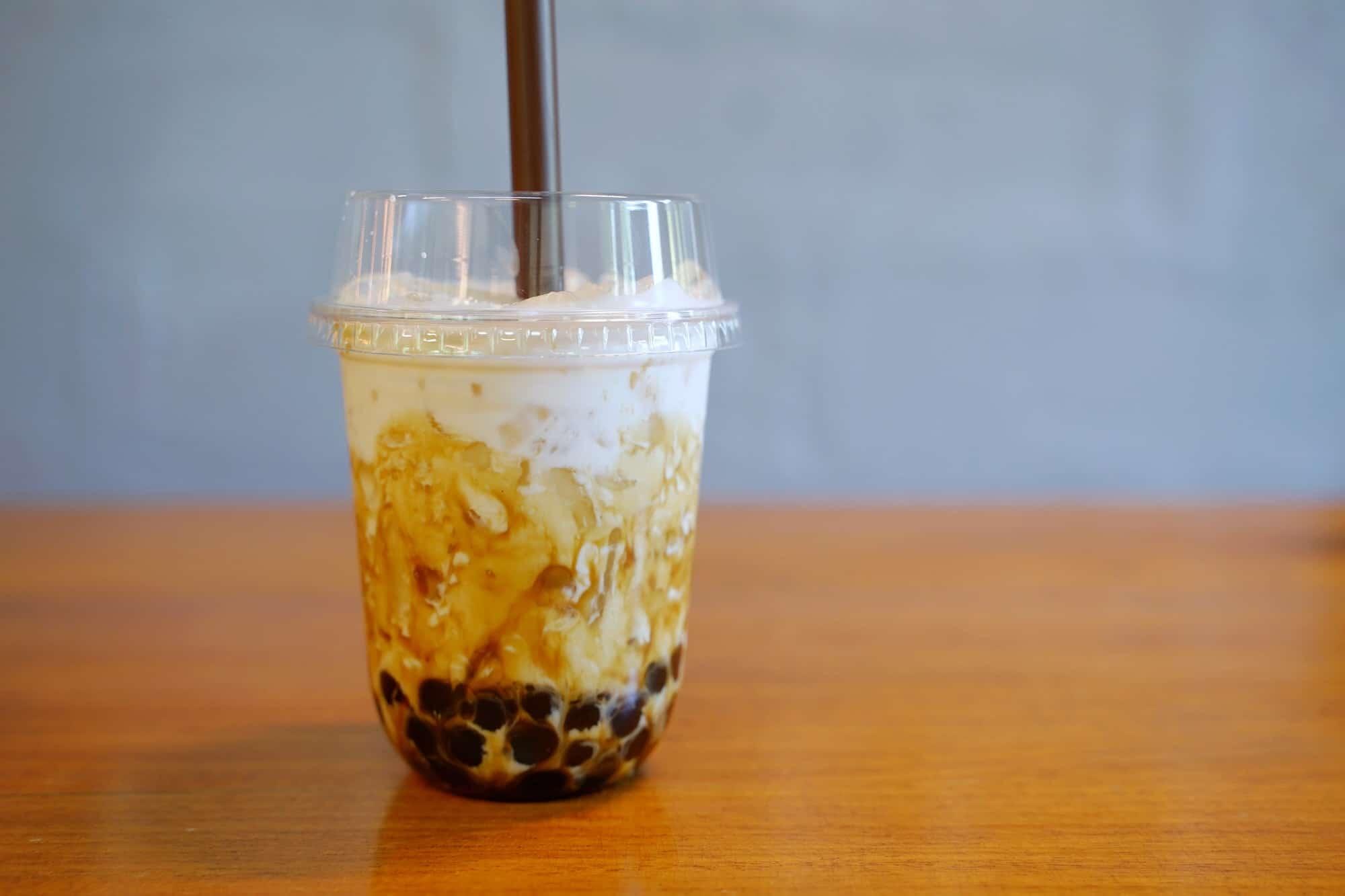 Iced bubble milk tea