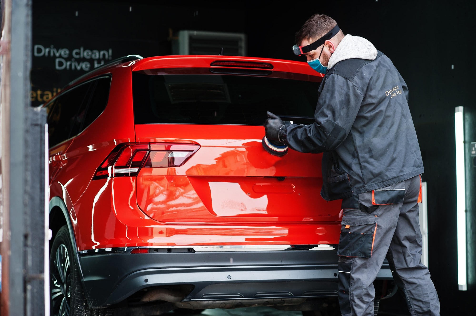 Car detailing concept.
