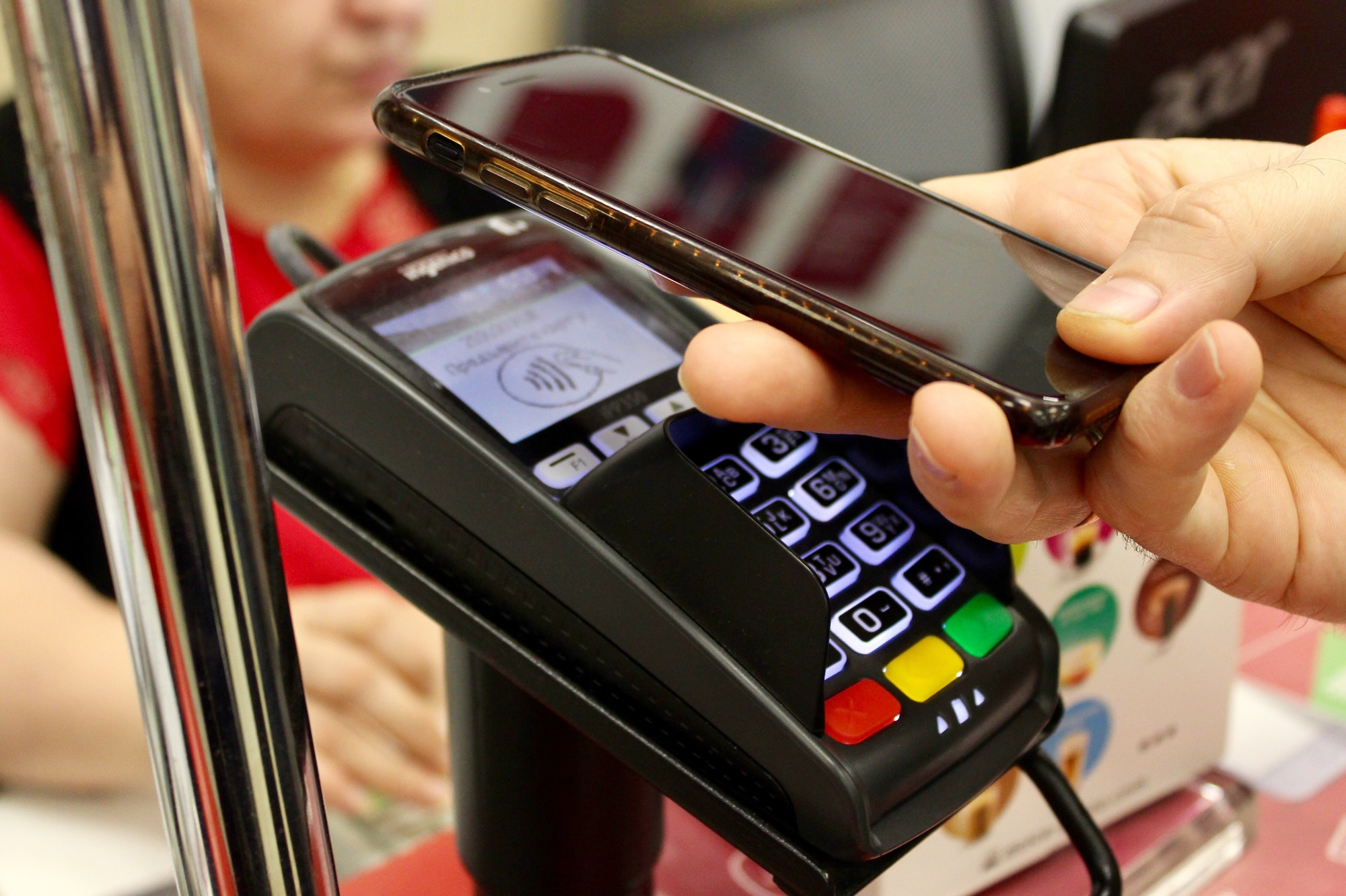 Payment with mobile phone device